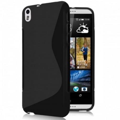 Silikon etui za HTC Desire 816 +Folija ekrana, Črna barva