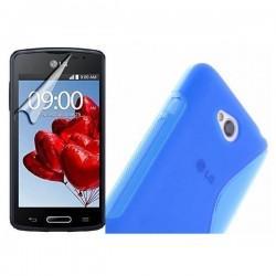 Silikon etui za LG L50 +Folija ekrana Modra barva