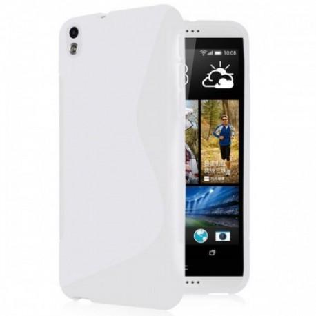 Silikon etui za HTC Desire 816 +Folija ekrana, Bela barva