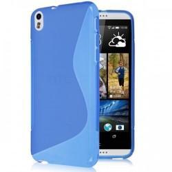 Silikon etui za HTC Desire 816 +Folija ekrana Modra barva