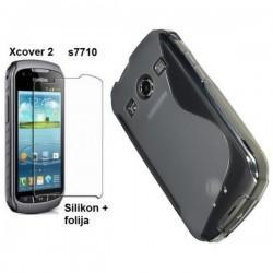 Silikon Etui za Samsung Galaxy Xcover 2 S7710 +folija, Transparent barva