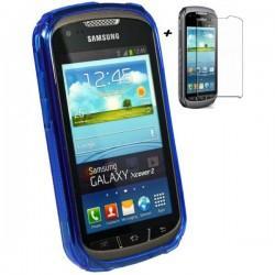 Silikon Etui za Samsung Galaxy Xcover 2 S7710 +folija, Temno Modra barva