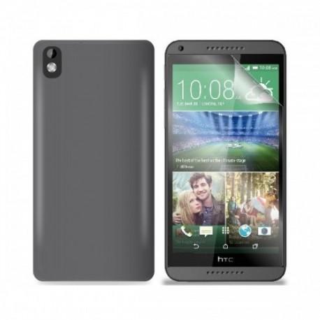 Silikon etui za HTC Desire 816 +Folija ekrana, Temna barva