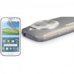 Silikon Etui za Samsung Galaxy K Zoom +folija ekrana Prozorno temna barva