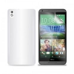 Silikon etui za HTC Desire 816 +Folija ekrana, Bela mat barva
