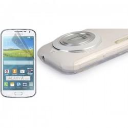 Silikon Etui za Samsung Galaxy K Zoom +folija ekrana Prozorno bela mat barva