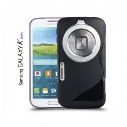 Silikon Etui za Samsung Galaxy K Zoom +folija ekrana Črna barva