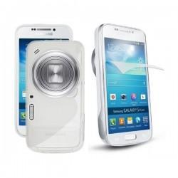 Silikon etui za Samsung Galaxy S4 Zoom ,SM-C101+Folija ekrana Transparent barva