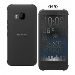 Torbica za HTC One M9 HC M231 Dot Flip Temno Siva barva