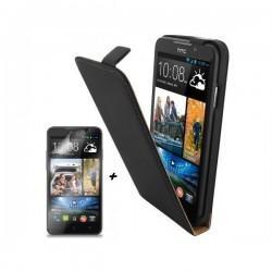 Preklopna Torbica HTC Desire 516 Dual Sim Črna barva, tpu +Folija ekrana