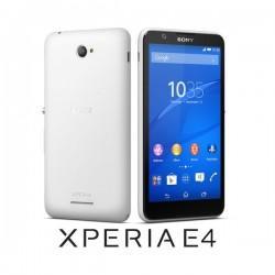 Silikon etui za Sony Xperia E4 Bela barva