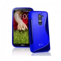 Silikon etui za LG G2 +Folija ekrana, Modra barva