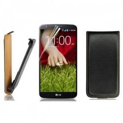 Torbica za LG G2 Preklopna +folija ekrana, črna barva