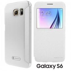 Torbica Nillkin za Samsung Galaxy S6 S-View Bela barva