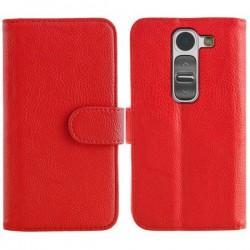 Torbica Stand za LG G2 Mini Preklopna Rdeča barva