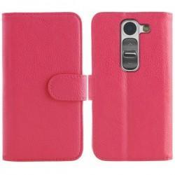 Torbica Stand za LG G2 Mini Preklopna Pink barva