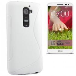 Silikon etui za LG G2 Mini +Folija ekrana, Bela barva