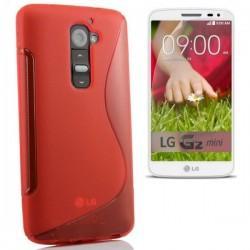Silikon etui za LG G2 Mini +Folija ekrana, Rdeča barva