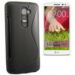 Silikon etui za LG G2 Mini +Folija ekrana, Črna barva