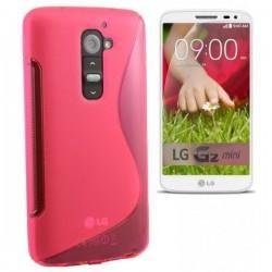 Silikon etui za LG G2 Mini +Folija ekrana, Pink barva