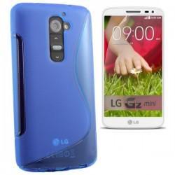 Silikon etui za LG G2 Mini +Folija ekrana, Modra barva