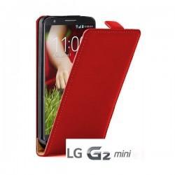 Torbica za LG G2 Mini Preklopna +folija ekrana, Rdeča barva