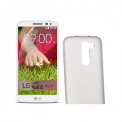 Silikon etui za LG G2 Mini +Folija ekrana, Prozorno bela barva