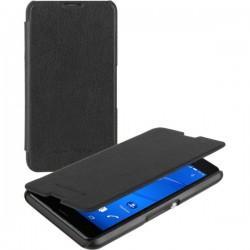 Preklopna torbica Roxfit za Sony Xperia E4g Črna barva