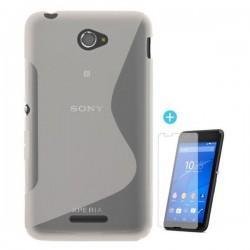 Silikon eui za Sony Xperia E4 Transparent+ folija ekrana