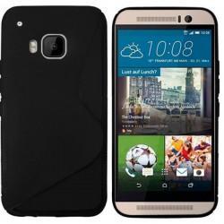 Silikon etui za HTC One M9 Črna barva +folija
