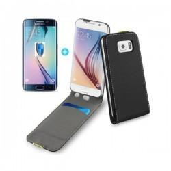 Preklopna torbica za Samsung Galaxy S6 Edge Črna barva +folija ekrana