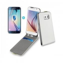 Preklopna torbica za Samsung Galaxy S6 Edge Bela  barva +folija ekrana