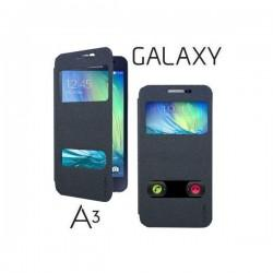 Preklopna torbica S-Wiew za Samsung Galaxy A3 Črna barva