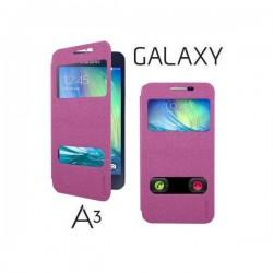 Preklopna torbica S-Wiew za Samsung Galaxy A3 Pink barva