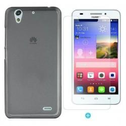 Silikon etui za Huawei Ascend G620S Temna barva