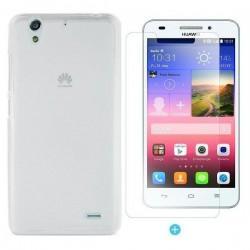 Silikon etui za Huawei Ascend G620S Prozorno Bela barva