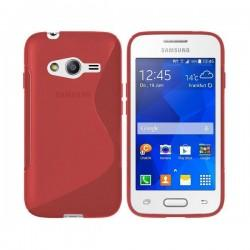 Silikon etui za Samsung Galaxy Trend 2 Rdeča barva+ Folija ekrana