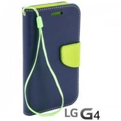 Preklopna Torbica Fancy za LG G4 Modra barva