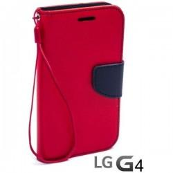 Preklopna Torbica Fancy za LG G4 Rdeča barva
