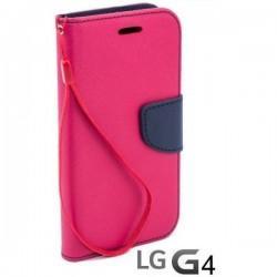 Preklopna Torbica Fancy za LG G4 Pink barva