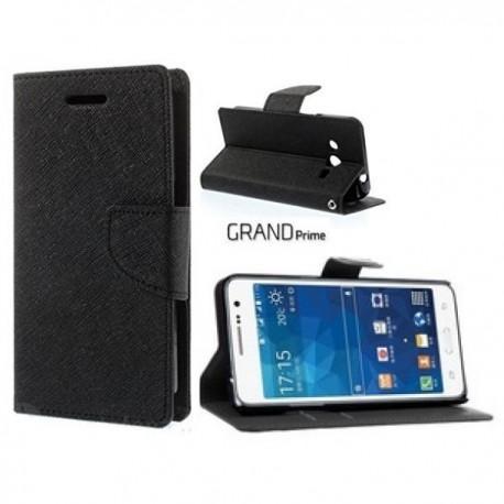 Preklopna Torbica Fancy za Samsung Galaxy Grand Prime Črna barva