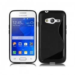 Silikon etui za Samsung Galaxy Trend 2 Črna barva+ Folija ekrana