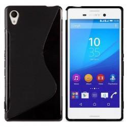 Silikon Etui za Sony Xperia M4 Aqua Črna barva +folija ekrana