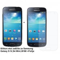 Silikon etui Jekod za Samsung Galaxy S4 Mini +Folija, Temen