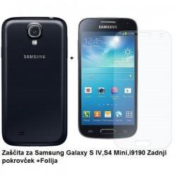 Etui Jekod za Samsung Galaxy S4 Mini Zadnji pokrovček +Folija, Črn