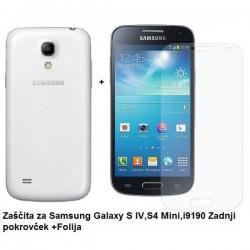 Etui Jekod za Samsung Galaxy S4 Mini Zadnji pokrovček +Folija, Bela