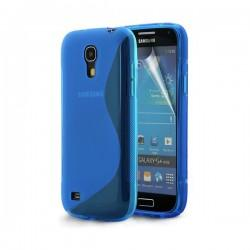 Silikon etui za Samsung Galaxy S4 Mini +Folija, Modra barva