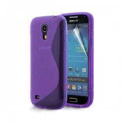 Silikon etui za Samsung Galaxy S4 Mini +Folija, Viola barva