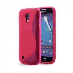 Silikon etui za Samsung Galaxy S4 Mini +Folija, Pink barva