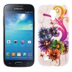 Silikon etui za Samsung Galaxy S4 Mini +Folija ekrana, Motiv Colored Flowers
